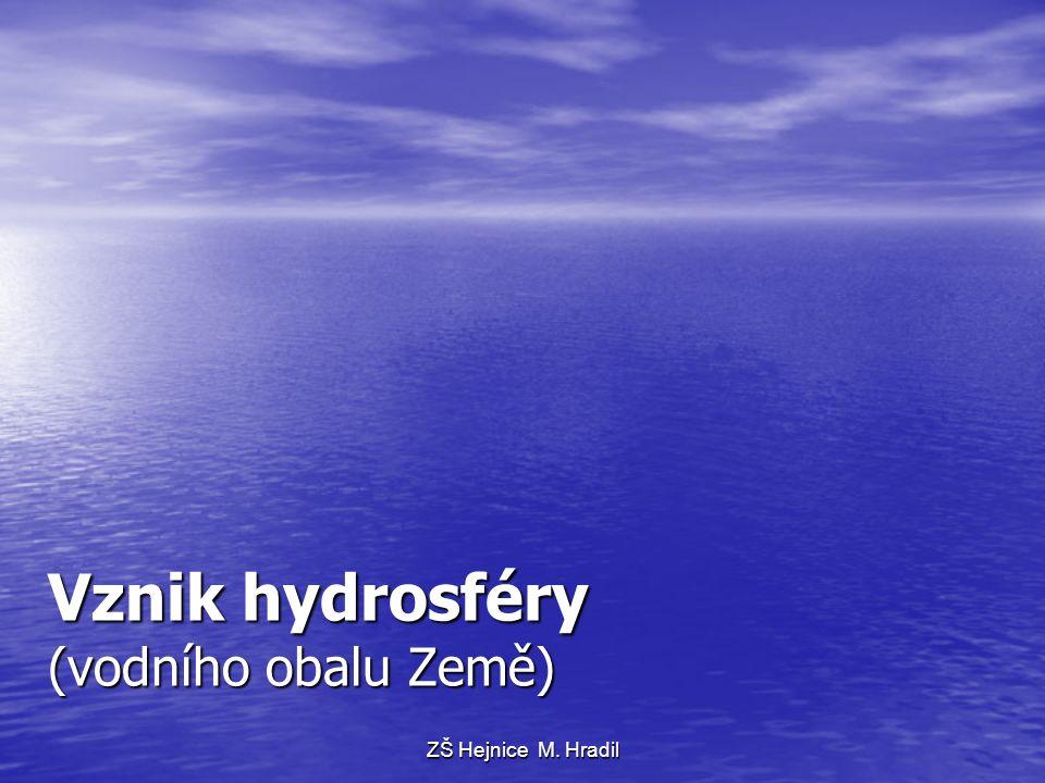 Vznik hydrosféry (vodního obalu Země) ZŠ Hejnice M. Hradil