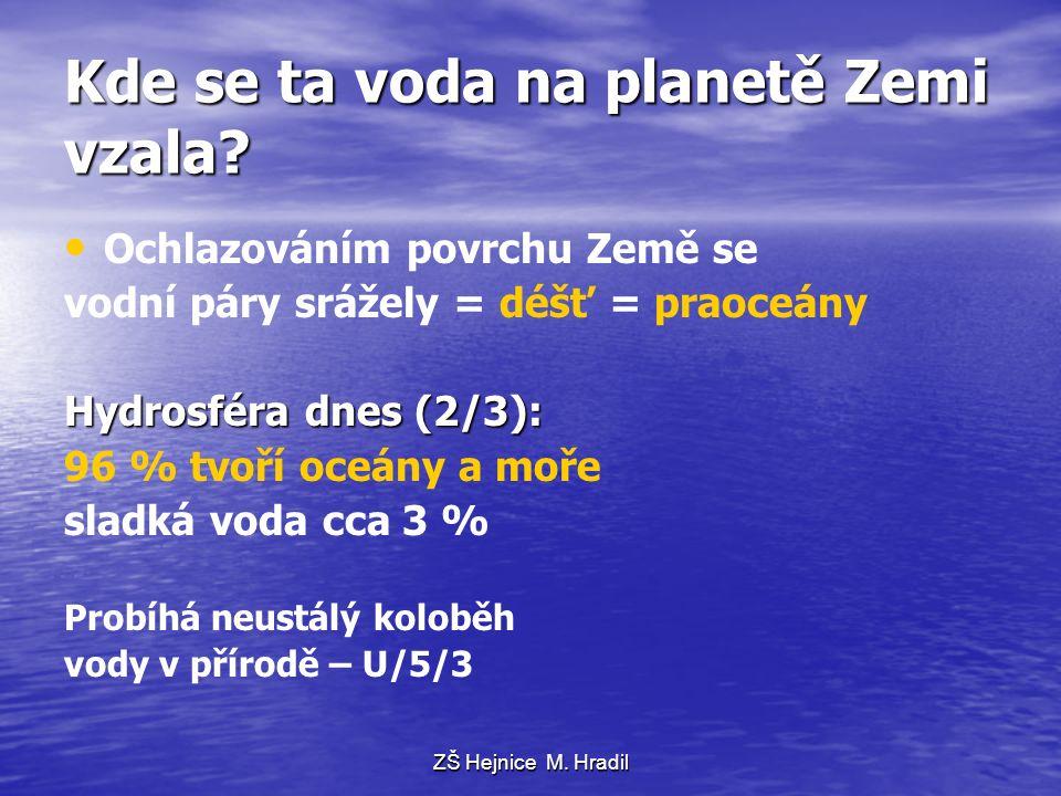 Kde se ta voda na planetě Zemi vzala.
