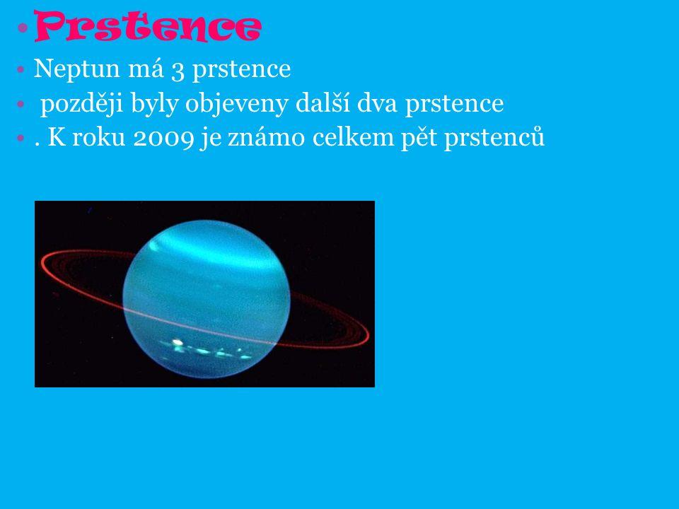Prstence Neptun má 3 prstence později byly objeveny další dva prstence.