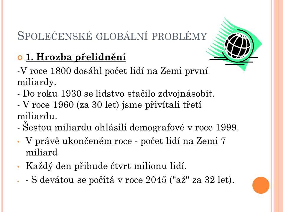 S POLEČENSKÉ GLOBÁLNÍ PROBLÉMY 1.