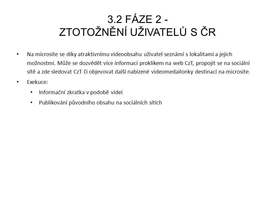4.1 CÍL KAMPANĚ 2015 Stále zůstávají komunikační cíle: představit ČR jako atraktivní destinaci k trávení dovolené.