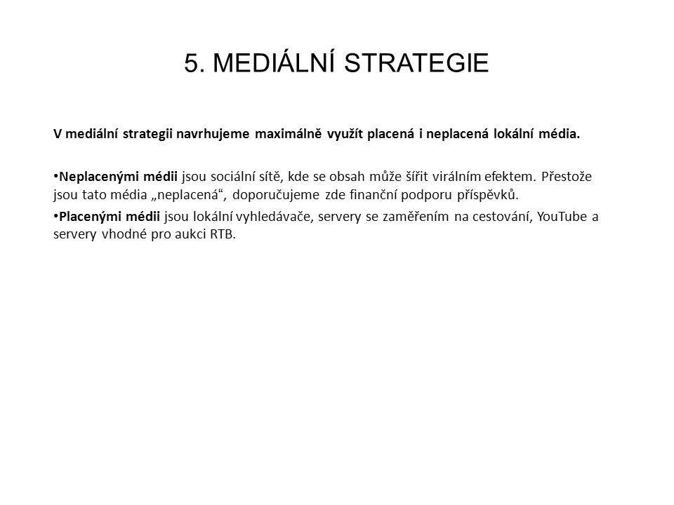 5. MEDIÁLNÍ STRATEGIE V mediální strategii navrhujeme maximálně využít placená i neplacená lokální média. Neplacenými médii jsou sociální sítě, kde se