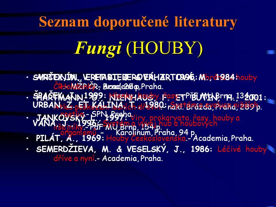 Seznam doporučené literatury ANTONÍN, V.