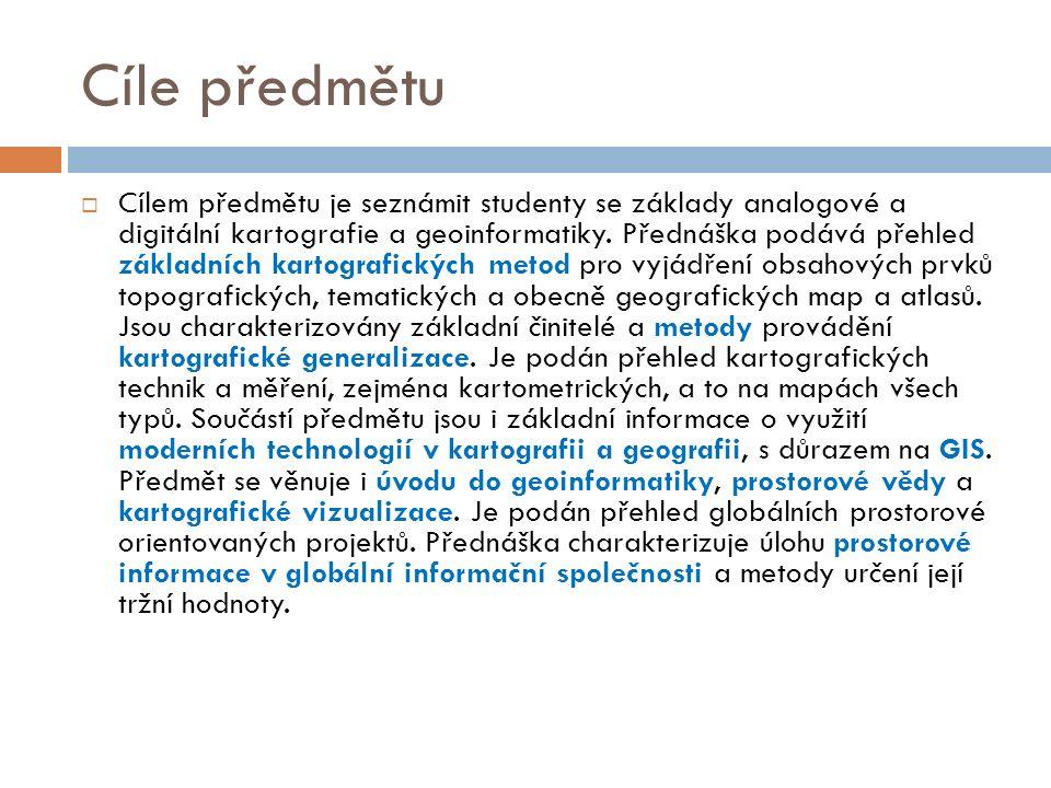 Osnova  1.Vymezení a definice prostorových dat, informací a znalostí.