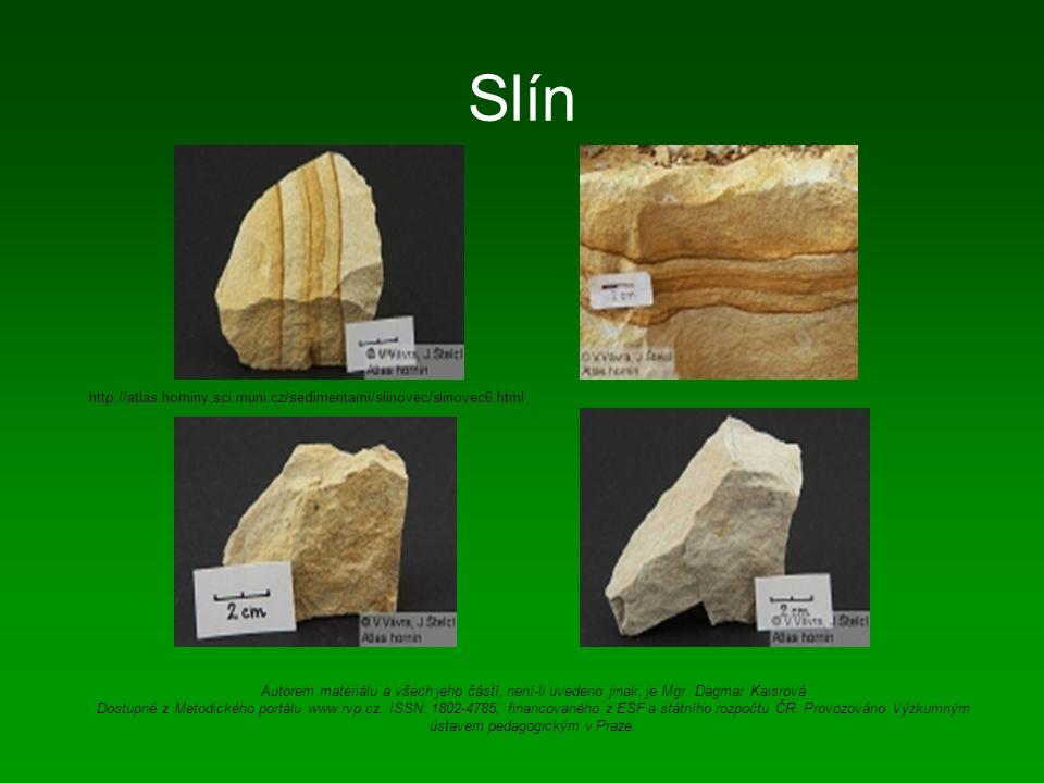 Slín http://atlas.horniny.sci.muni.cz/sedimentarni/slinovec/slinovec6.html Autorem materiálu a všech jeho částí, není-li uvedeno jinak, je Mgr.