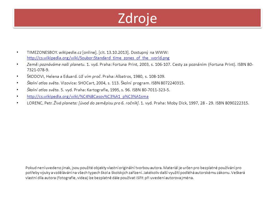 Zdroje TIMEZONESBOY. wikipedie.cz [online]. [cit.
