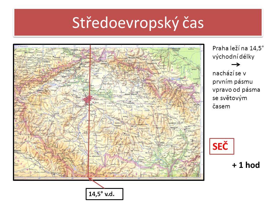 Středoevropský čas 14,5° v.d.
