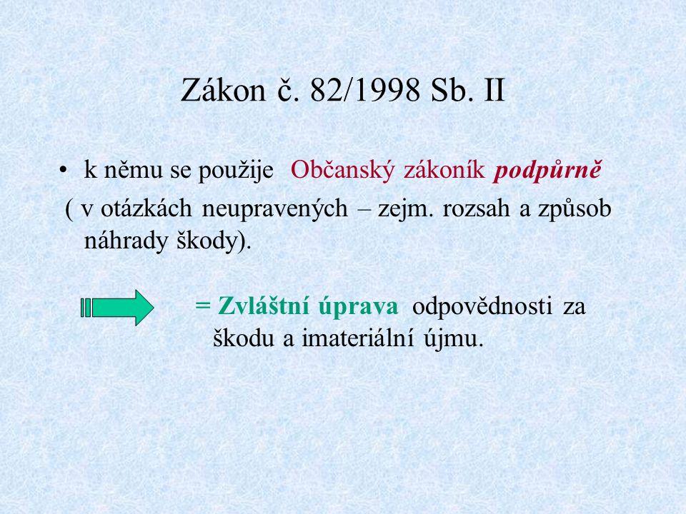 Zákon č. 82/1998 Sb.