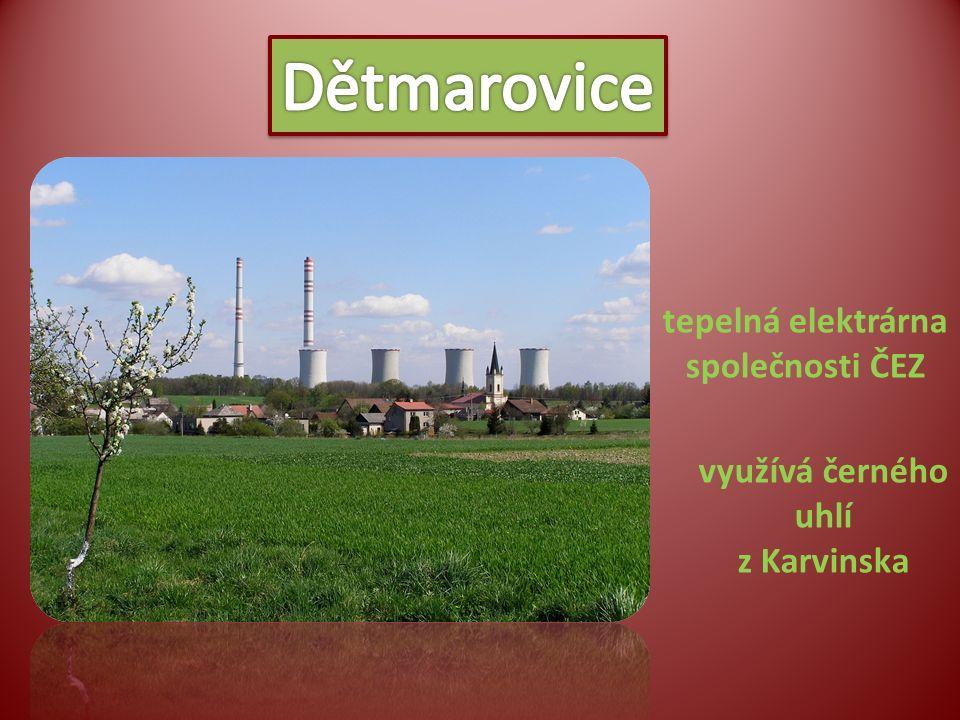 tepelná elektrárna společnosti ČEZ využívá černého uhlí z Karvinska
