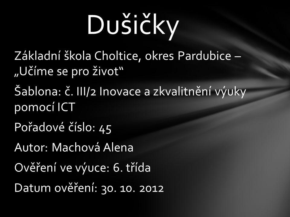 """Základní škola Choltice, okres Pardubice – """"Učíme se pro život Šablona: č."""