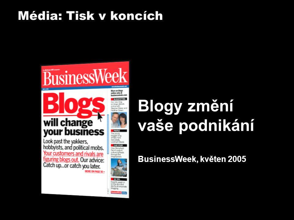 Blogy změní vaše podnikání BusinessWeek, květen 2005 Média: Tisk v koncích