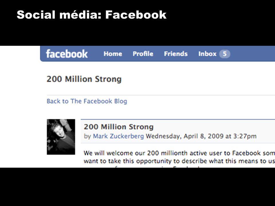Social média: Facebook