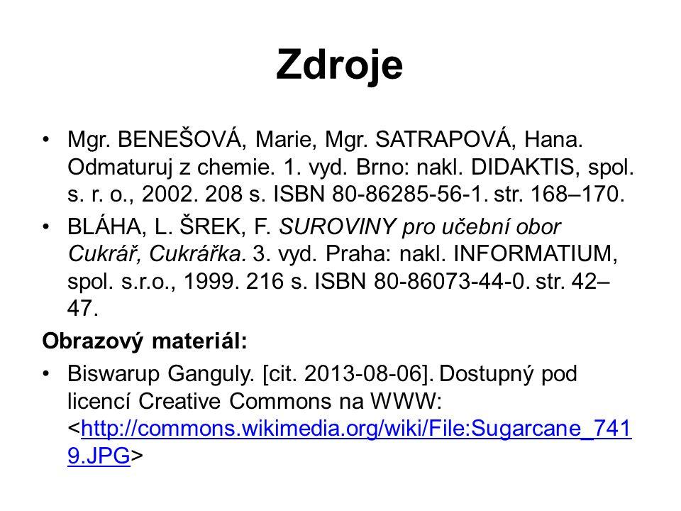 Mgr.BENEŠOVÁ, Marie, Mgr. SATRAPOVÁ, Hana. Odmaturuj z chemie.