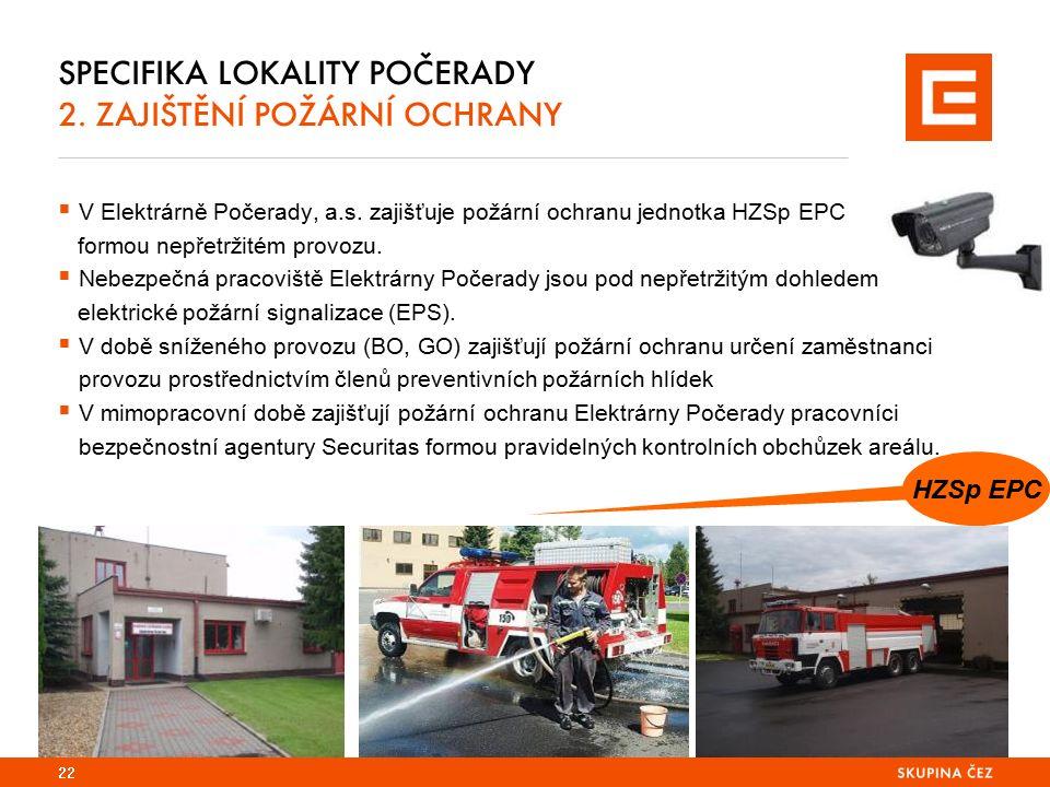 SPECIFIKA LOKALITY POČERADY 2. ZAJIŠTĚNÍ POŽÁRNÍ OCHRANY  V Elektrárně Počerady, a.s.