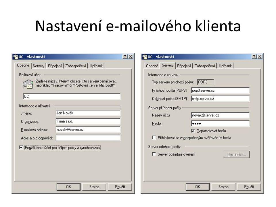 Nastavení e-mailového klienta