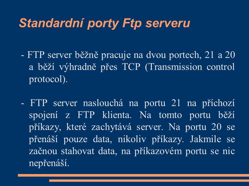 Ukázka Ftp serveru ProfFTPD