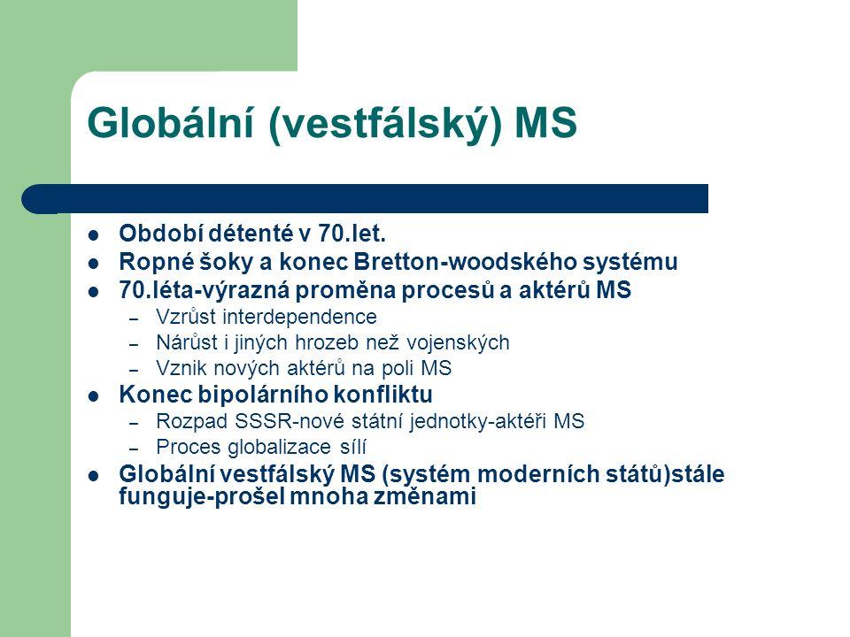 Globální (vestfálský) MS Období détenté v 70.let.
