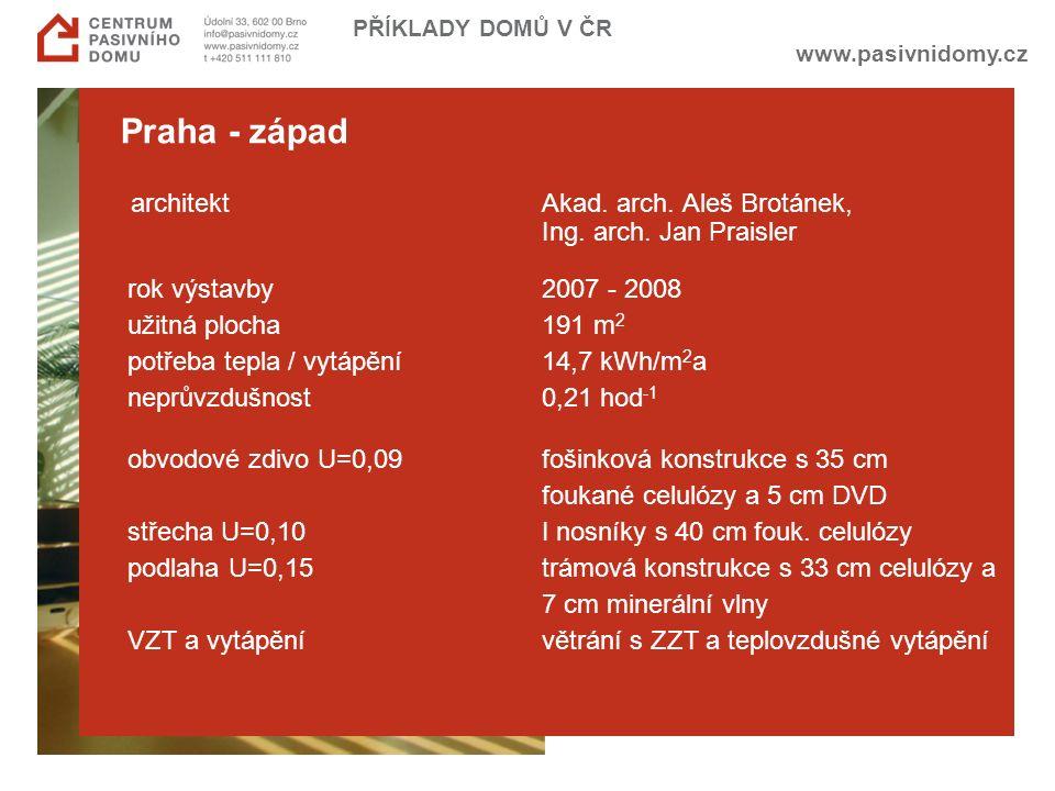 www.pasivnidomy.cz PŘÍKLADY DOMŮ V ČR Praha - západ architektAkad.