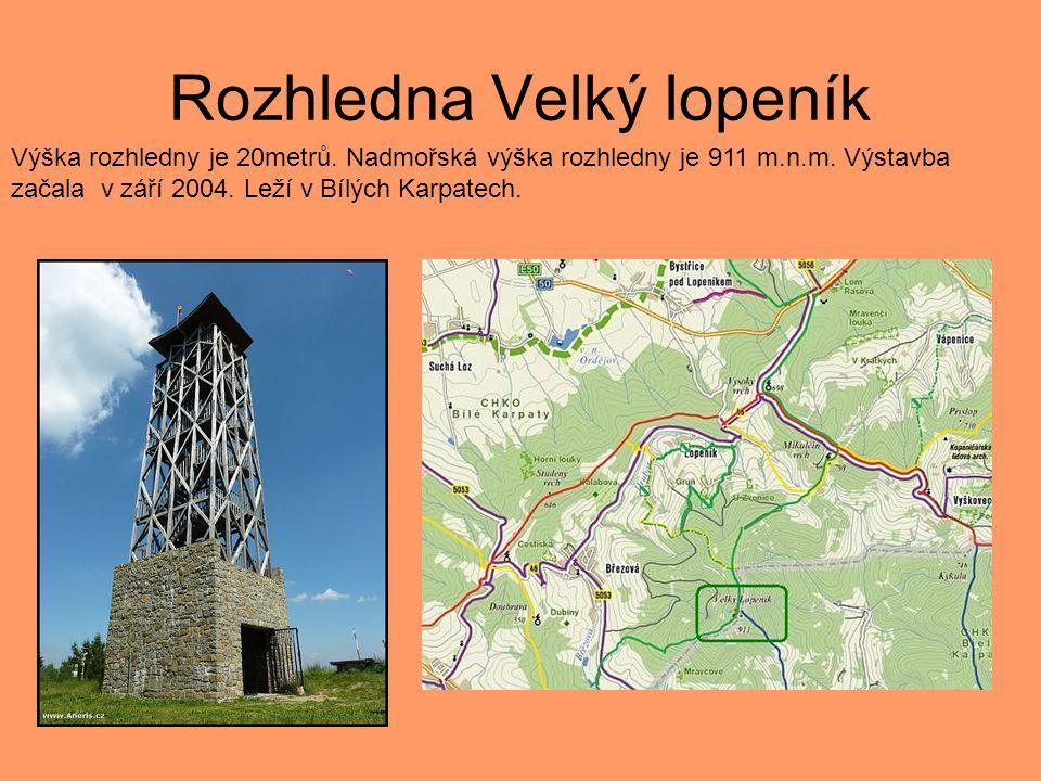 Rozhledna Nedánov Vrchol Nedánov se nachází ve výšce 368 m n.