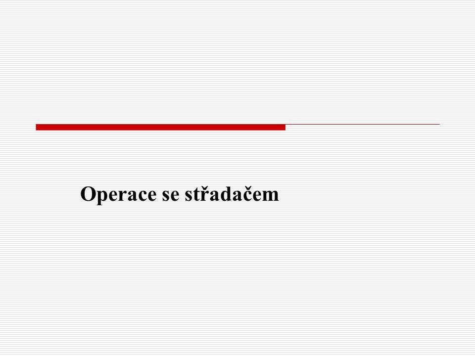 Operace se střadačem
