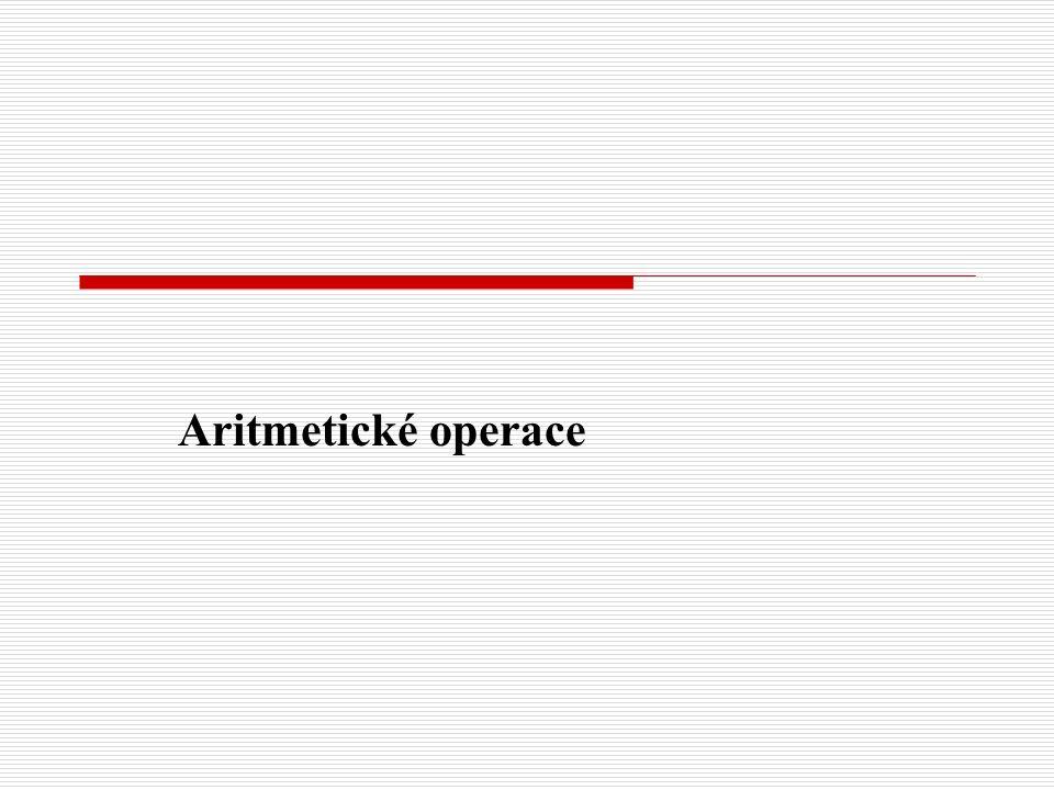 Aritmetické operace