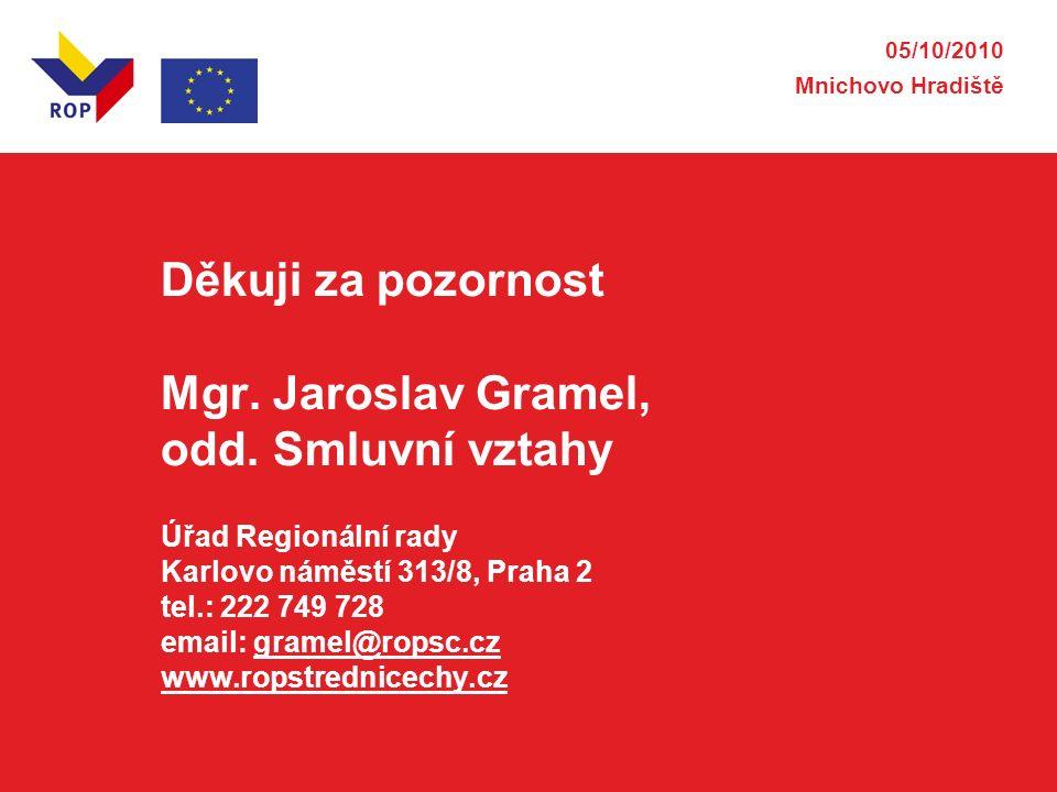 Děkuji za pozornost Mgr. Jaroslav Gramel, odd.