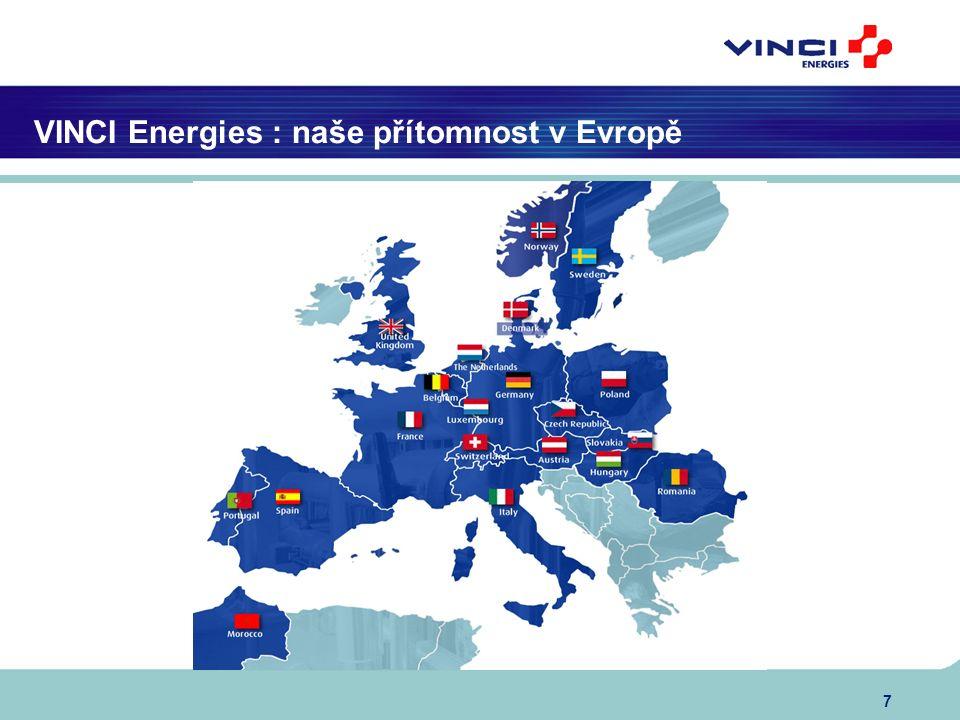 7 VINCI Energies : naše přítomnost v Evropě