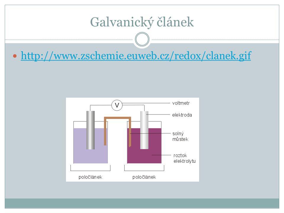 Galvanický článek http://www.zschemie.euweb.cz/redox/clanek.gif