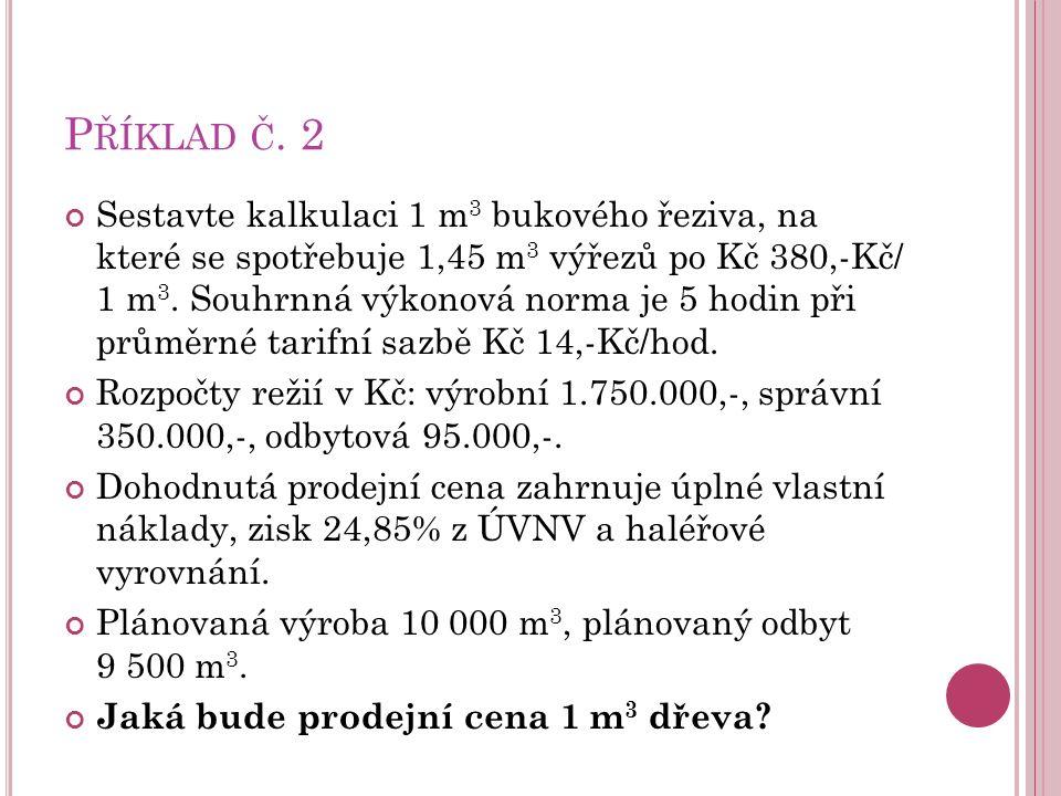 P ŘÍKLAD Č.
