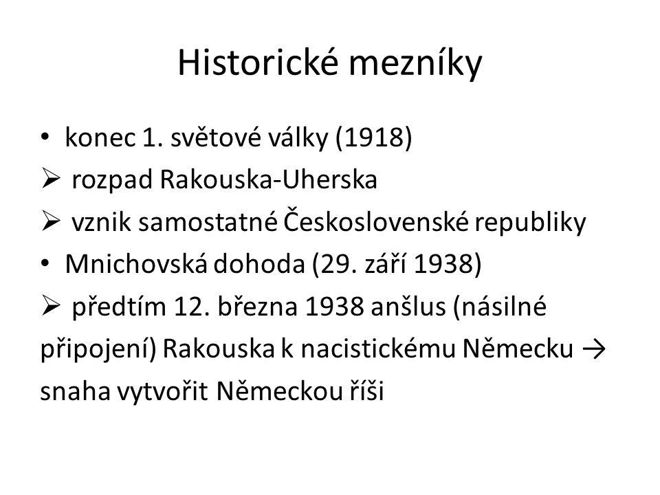 Historické mezníky konec 1.