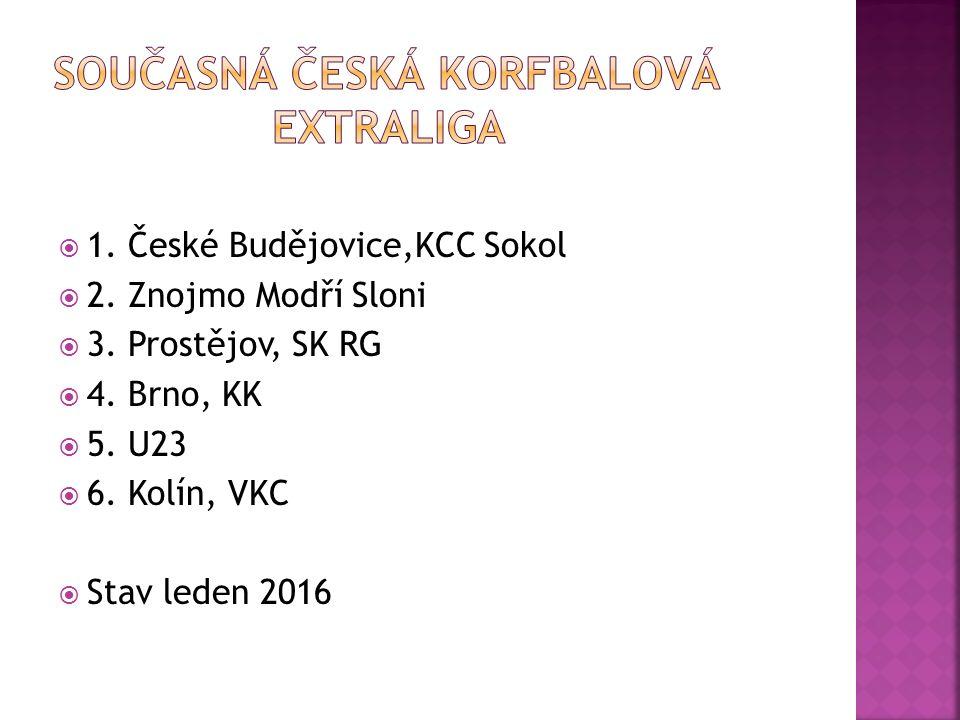  1. České Budějovice,KCC Sokol  2. Znojmo Modří Sloni  3.
