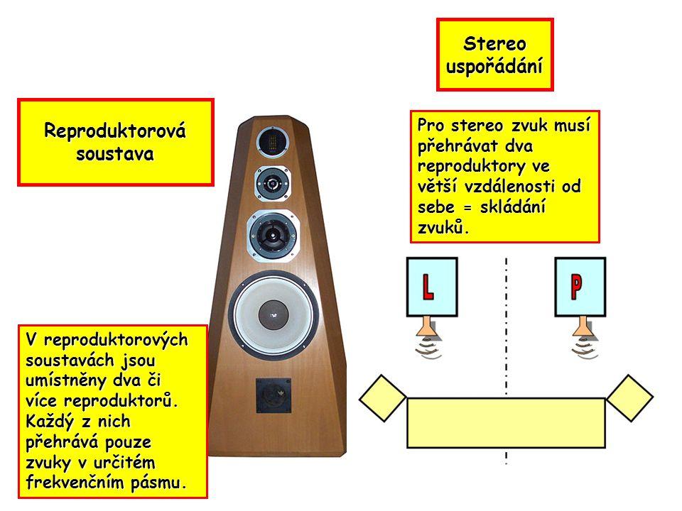V reproduktorových soustavách jsou umístněny dva či více reproduktorů.