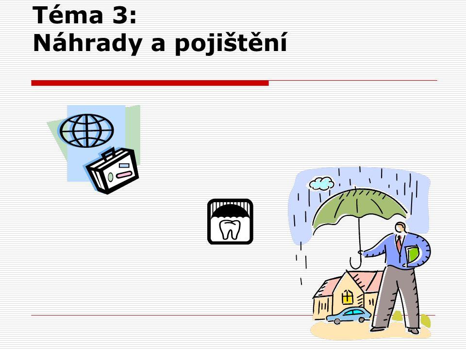 Téma 3: Náhrady a pojištění