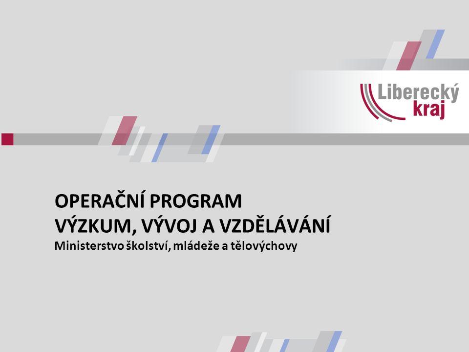 OPERAČNÍ PROGRAM VÝZKUM, VÝVOJ A VZDĚLÁVÁNÍ Ministerstvo školství, mládeže a tělovýchovy