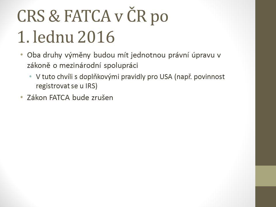 CRS & FATCA v ČR po 1.
