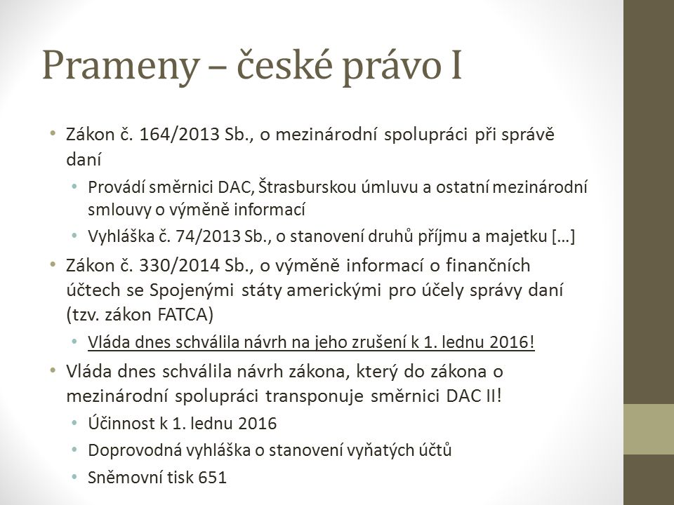 Prameny – české právo I Zákon č.