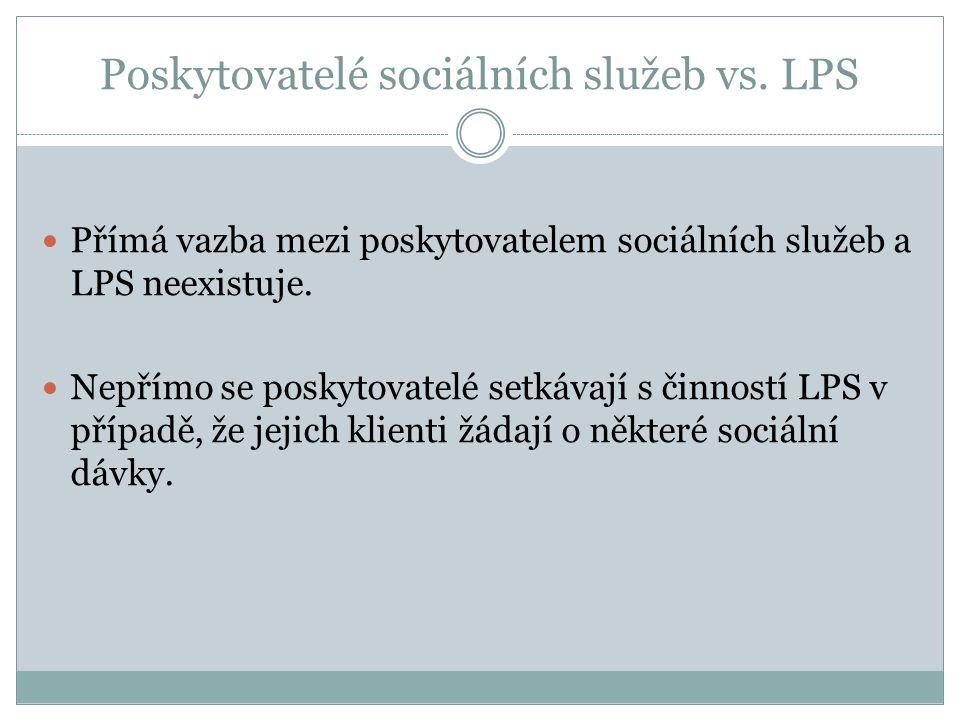 Poskytovatelé sociálních služeb vs.