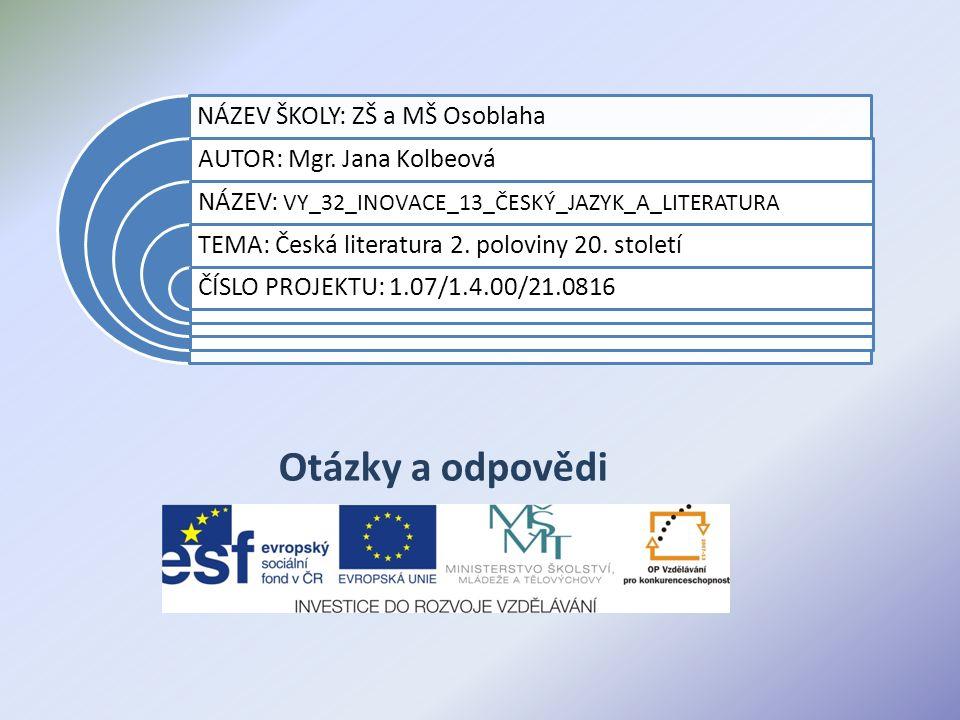 Datum vytvoření projektu listopad 2011 Ročník9.