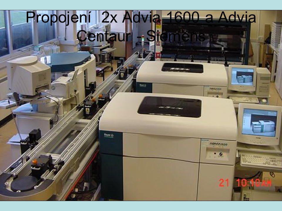 Propojení 2x Advia 1600 a Advia Centaur - Siemens