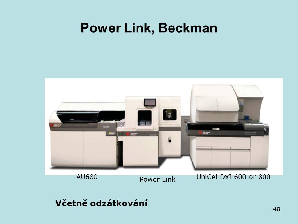 48 Power Link, Beckman AU680 Power Link UniCel DxI 600 or 800 Včetně odzátkování