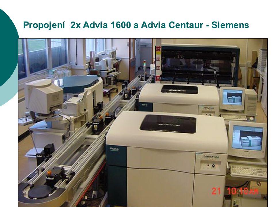 16 Propojení 2x Advia 1600 a Advia Centaur - Siemens