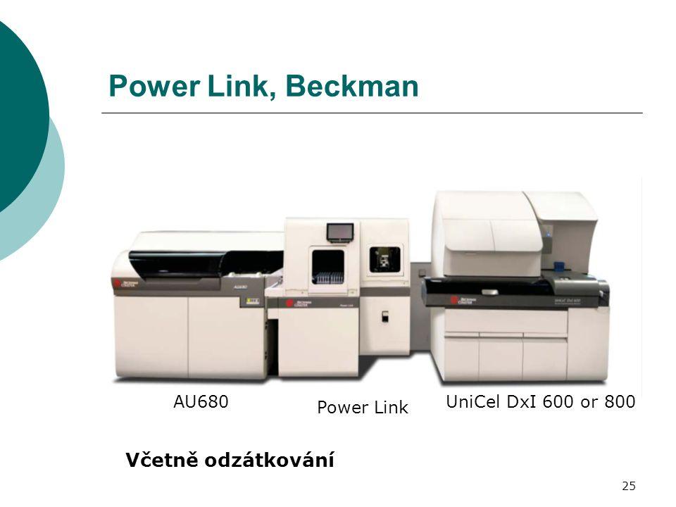25 Power Link, Beckman AU680 Power Link UniCel DxI 600 or 800 Včetně odzátkování