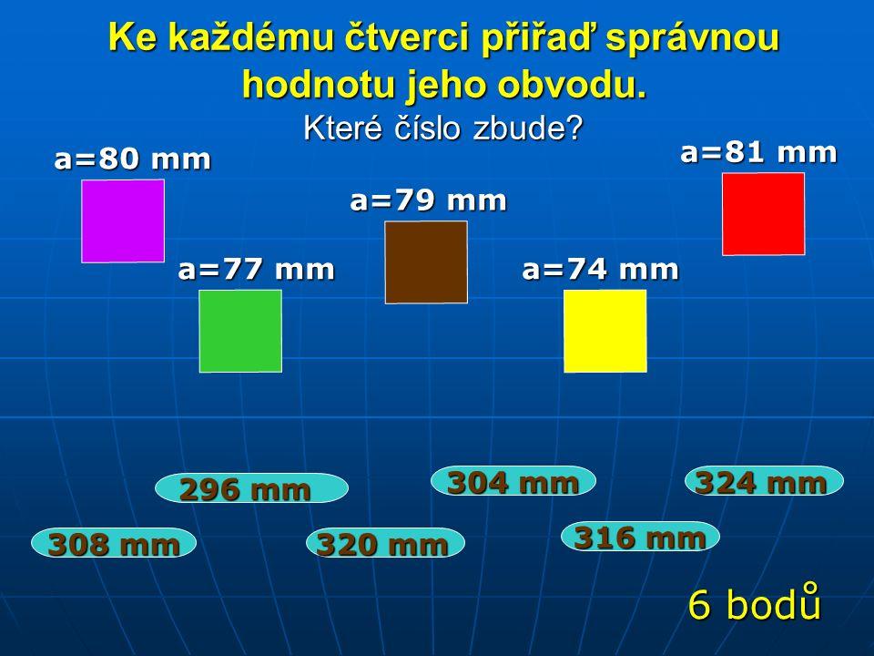 Vypočítej obvod čtverce. Víš, že strana a měří 150 cm (pracuj se vzorečkem…pokud si ho pamatuješ).