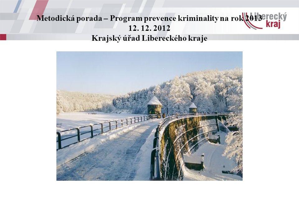 Metodická porada – Program prevence kriminality na rok 2013 12.