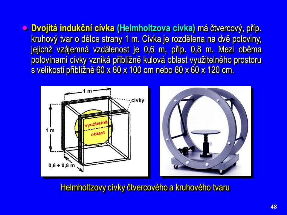 48  Dvojitá indukční cívka (Helmholtzova cívka) má čtvercový, příp.