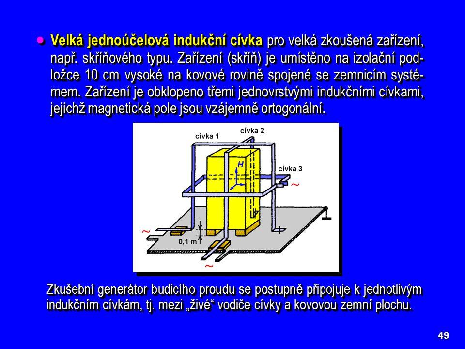 49  Velká jednoúčelová indukční cívka pro velká zkoušená zařízení, např.