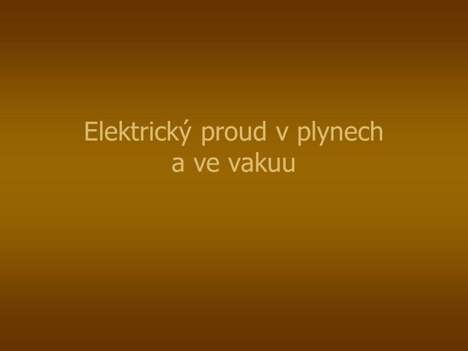 Elektrický proud vede jen ionizovaný plyn.