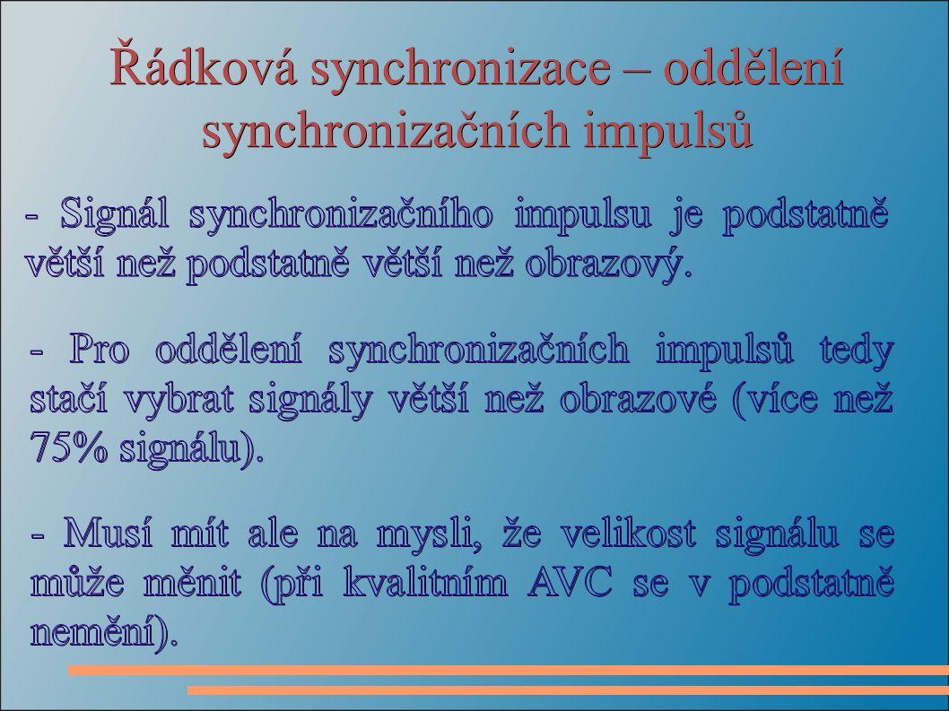 Řádková synchronizace – oddělení synchronizačních impulsů