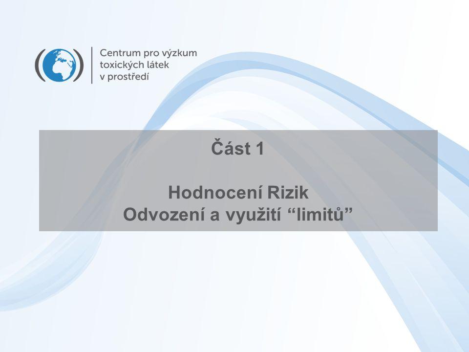 Část 1 Hodnocení Rizik Odvození a využití limitů