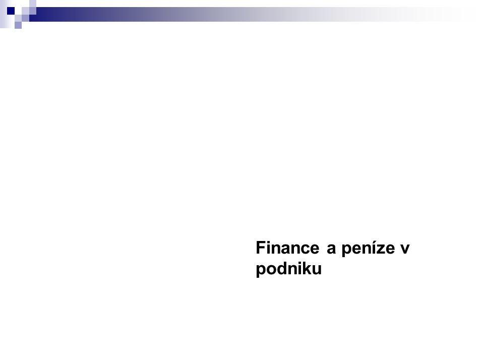 Finance a peníze v podniku